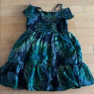 The children's place floral black dress 5t